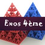 Calcul littéral : exercices de maths en 4ème corrigés en PDF