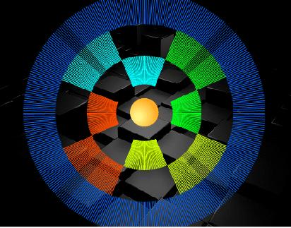Scteurs de disques concentriques