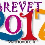 France rattrapage septembre 2017 - sujet et corrigé du brevet de maths