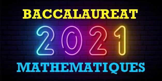 bac maths 2021